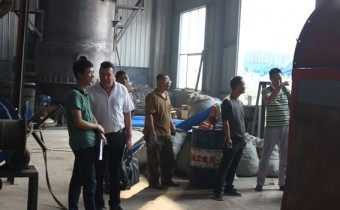 The Philippine Customer Came To Visit Our Carbonization Plant