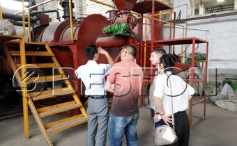 The Customer From Russian Visit Our Factory To See The Charcoal Equipment