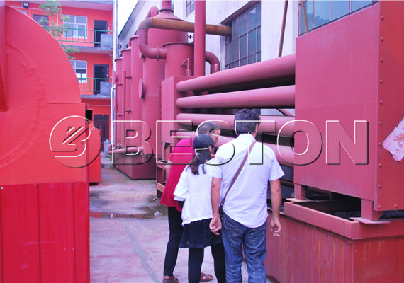 Tunisia client came to see Beston carbonization-equipment