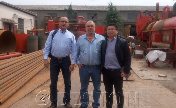 The Two US customers Came to Visit Beston Carbonizer Machine