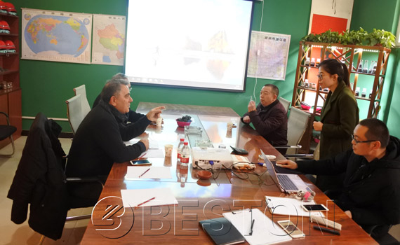 Turkish Customers Came To China To Visit Carbonization Plant