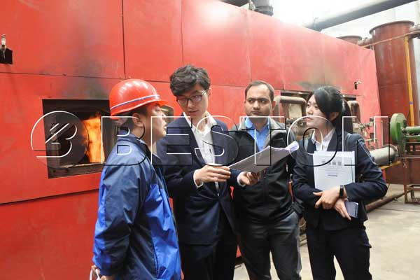 Indian Customers of Rice Husk Charcoal Machine Visit Beston