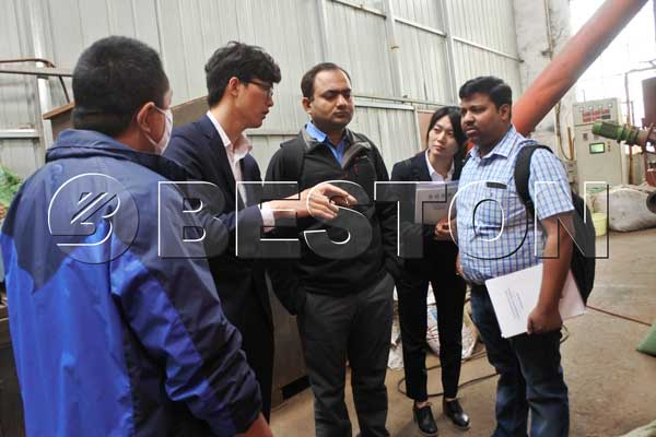 Charcoal Making Machine Customers from India